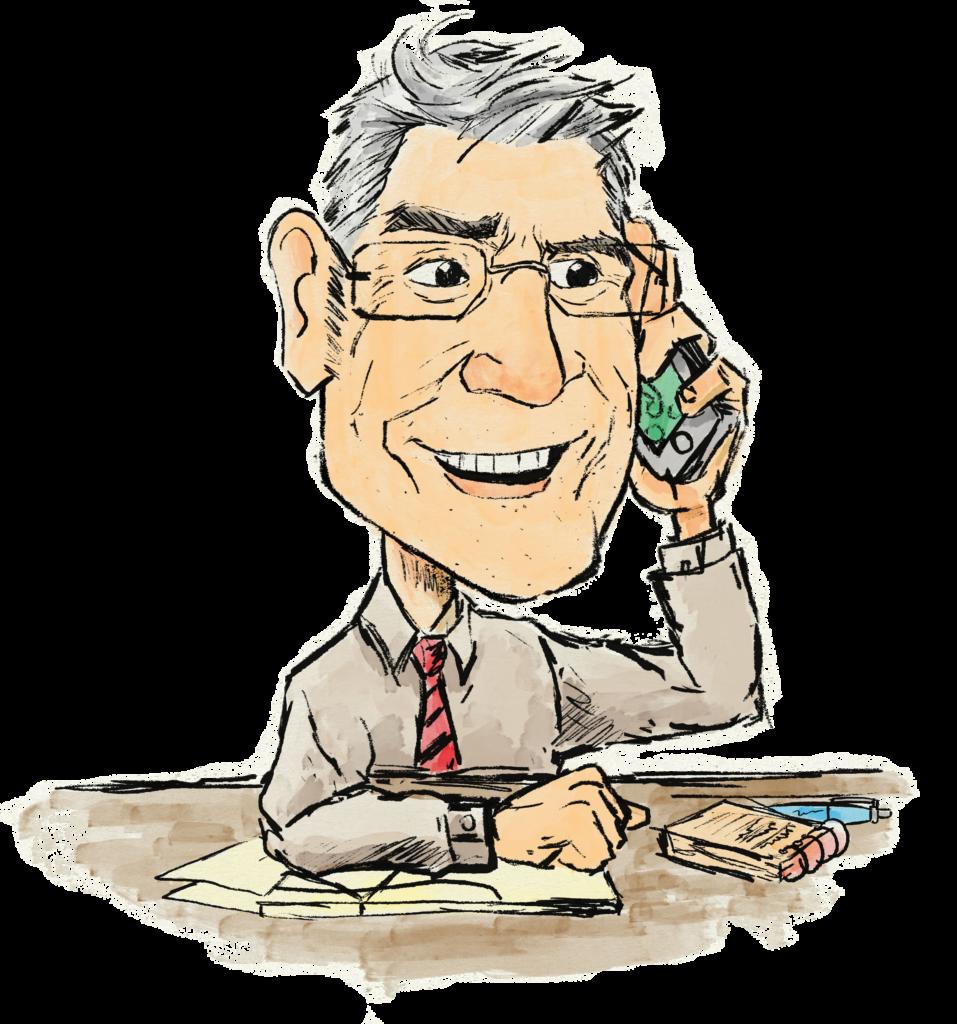 chema biela marketing digital hablando por telefono con un cliente para preparar una consultaria on line